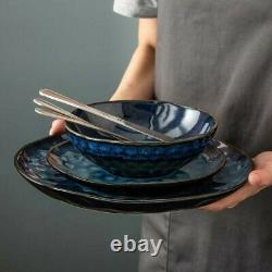 Vancasso Star 24pc Set Dinner Stoneware Serving Dish Dessert Plates Cereal Bowls