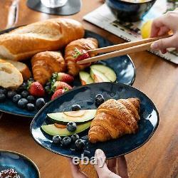 Vancasso Starry 22pcs Dinner Set Kitchen Vintage Kiln Glaze Plates Platter Bowls