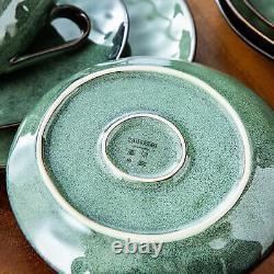 Vancasso Starry Green Glaze Dinner Set Ceramic Dinning Plate Side Bowl Tableware