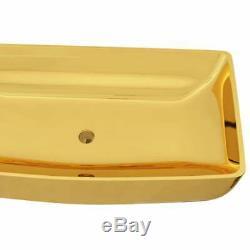 VidaXL Wash Basin 71x38x13.5cm Ceramic Gold Above Bathroom Sink Wash Bowl Unit