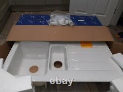 Villeroy & Boch Archiectura 1.5 Bowl Ceramic Kitchen Sink, white Brand new