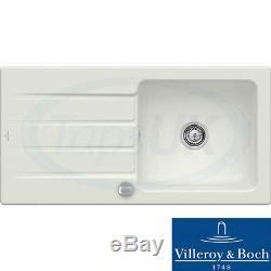 Villeroy & Boch Architectura 60 1.0 Bowl White Ceramic Kitchen Sink NO WASTE