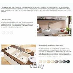 Villeroy & Boch Butler 90 2.0 Bowl White Ceramic Kitchen Sink NO WASTE