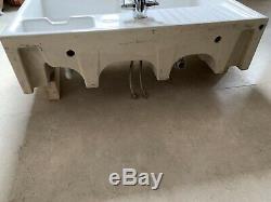 Villeroy & Boch Butler 90 White Ceramic 2 Bowl Belfast Sink + TAPS RRP £885