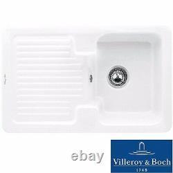 Villeroy & Boch Condor 45 1.0 Bowl White Ceramic Kitchen Sink NO WASTE