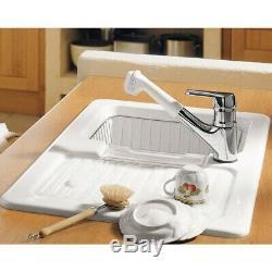 Villeroy & Boch Condor 50 1.25 Bowl White Ceramic Kitchen Sink NO WASTE