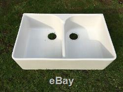 Villeroy & Boch Farmhouse 2 Bowl White Ceramic Kitchen Sink NO WASTE