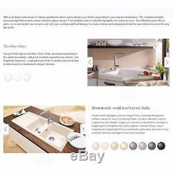 Villeroy & Boch Farmhouse 80 2.0 Bowl White Ceramic Kitchen Sink NO WASTE