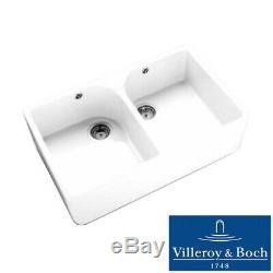 Villeroy & Boch Farmhouse 80 2.0 Bowl White Ceramic Kitchen Sink & Waste