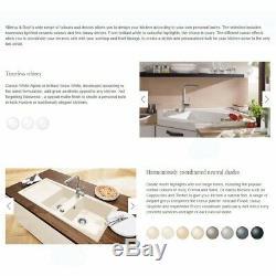 Villeroy & Boch Farmhouse 90 2.0 Bowl White Ceramic Kitchen Sink NO WASTE