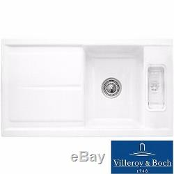 Villeroy & Boch Laola 50 1.25 Bowl White Ceramic Kitchen Sink NO WASTE