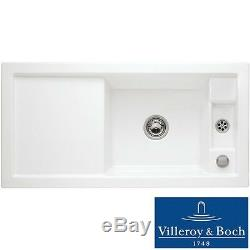 Villeroy & Boch Metric Art 60 1.25 Bowl White Ceramic Kitchen Sink NO WASTE