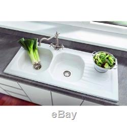 Villeroy & Boch Nestor Plus 2.0 Bowl White Ceramic Kitchen Sink NO WASTE