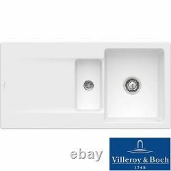 Villeroy & Boch Siluet 60R 1.5 Bowl White Ceramic Kitchen Sink NO WASTE