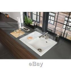 Villeroy & Boch Subway 45 1.0 Bowl White Ceramic Kitchen Sink LHD NO WASTE