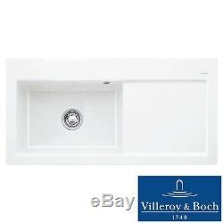 Villeroy & Boch Subway 60 XL 1.0 Bowl White Ceramic Kitchen Sink RHD NO WASTE