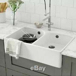 Villeroy&Boch White Ceramic Double Bowl Belfast Kitchen Sink 79.5cm L x 50cm W