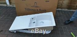 Villeroy & Boch white ceramic L/H Drainer Kitchen Sink- 1.5 Bowl BNIB
