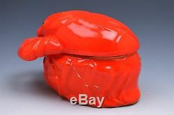 Vintage Drawn Butter Dish Red Lobster Serving Bowl Dish Czechoslovakia- Set of 6