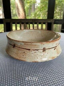 Vintage Warren MacKenzie Hand Thrown Ceramic Shino Glaze Drop Rim Bowl 10