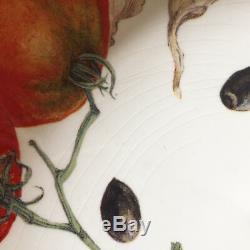 WILLIAMS SONOMA Pasta Serving Bowls Set of 5 / Mediterranean Vegetables & Herbs