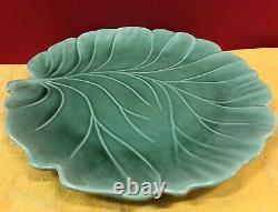 Waterlily-Shaped, Majolica Salad / Soup & Pitcher Set Aegitna Ceramiques, France