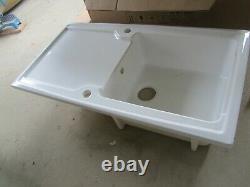 Wickes Contemporary 1 Bowl Ceramic Kitchen Sink White