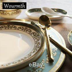 Wourmth free sipping dinnerware set china tableware set ceramic plates bowls