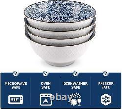 Y YHY Cereal Bowls, Ceramic Bowls for Soup, Salad, Pasta, Rice, 24 Ounces Ramen
