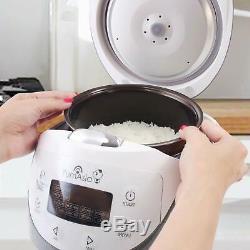 Yum Asia Panda Mini Rice Cooker With Ceramic Bowl and Advanced Micom Fuzzy Logic